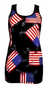 USA-FLAG-PIN-UP-PATCH-PRINT-LONG-VEST-TOP-SUMMER-DRESS-GOTH-PUNK-EMO-OLYMPICS