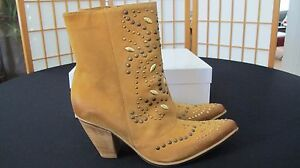 SUNDANCE 9.5 TAN LEATHER STUDDED NEW HORIZON Stiefel SIZE 9.5 SUNDANCE 40 NWB     408215