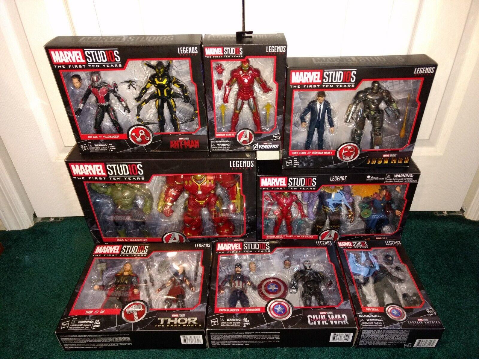 Marvel Studios cinematográfica 8 artículos todos los Menta en paquete Sellado  Lote  Hulk Hulkbuster Thanos Tony Estrellak