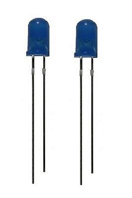 0007 LED Leuchtdiode 5 mm blau 50-150 mcd 60° 2 Stück