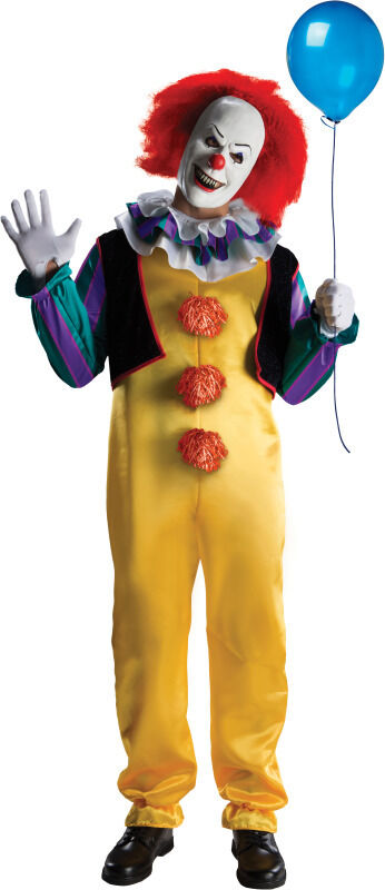 Pennywise Deluxe Adult Scary Clown Costume IT The Movie