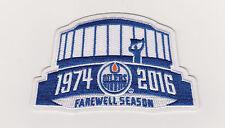 Edmonton Oilers Farewell Season Patch 2016/17  Rexall Place
