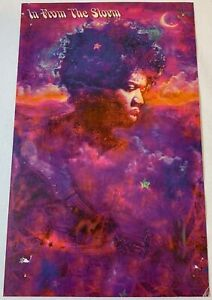 1995 promo postcard ~ JIMI HENDRIX - In From The Storm ~ 5x8
