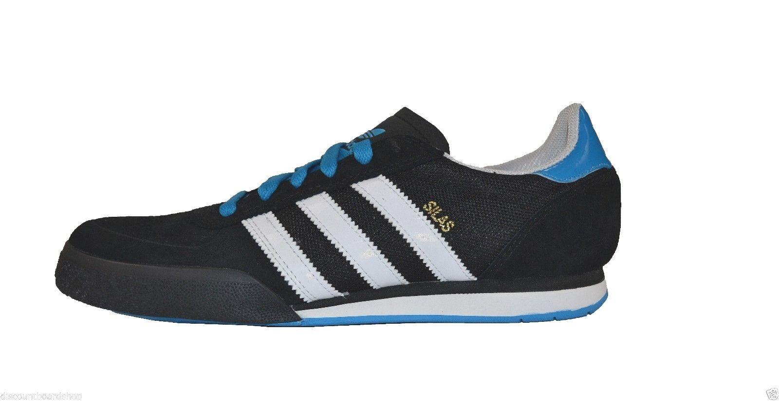 Adidas SILAS SLR Black White Blue Skateboarding D73667 Price reduction Men's Shoes