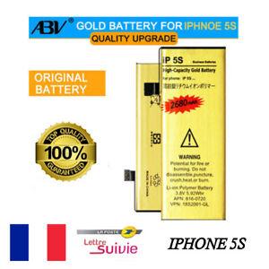 BATTERIE-GOLD-HAUTE-CAPACITE-DE-REMPLACEMENT-APPLE-IPHONE-5S-Envoi-24-48H-FR