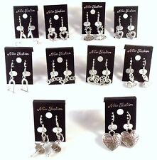 Lot of (10) Pairs Silver Earrings A DANCERS HEART Wholesale BARGAIN Handmade