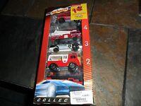 Rare Majorette 5 Piece Fire Truck & Police Land Rover Explorateur In Mint Box