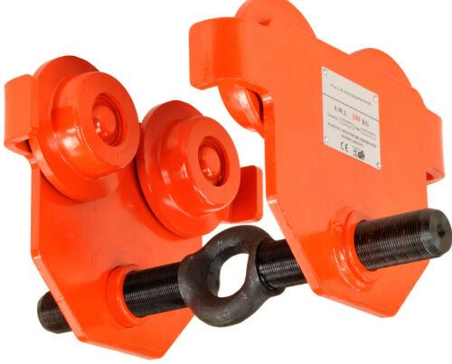 500kg Laufkatze Flaschenzug Flanschbreite 50-220mm Fahrwerkstraverse 0,5t 01210