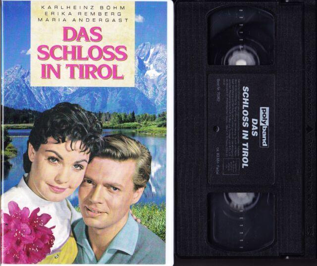 VHS Das Schloss in Tirol - Karlheinz Böhm, Erika Remberg - Videotape - RAR!!