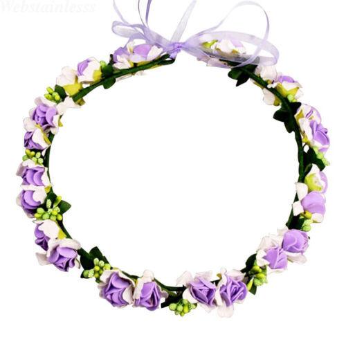 Women Boho Flower Floral Hairband Headband Crown Party Bride Wedding Beach Lot