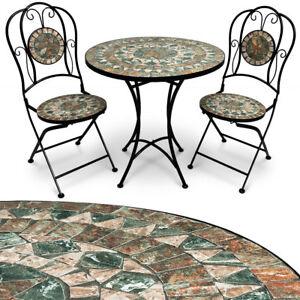 Détails sur Mosaïque Salon de jardin sièges jardin mobilier salon table  table de bistro Set- afficher le titre d\'origine
