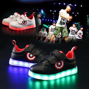 Details About Kids Led Light Up Shoes Luminous Sportswear Sneaker Casual Shoe Usb Rechargeable