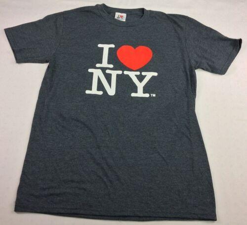 I Love NY Men's Medium Gray SS T-shirt I Love NY E