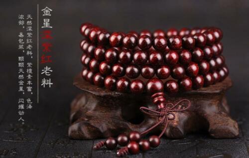 Indian lobulaire palissandre ancien plein de Vénus Bracelets bouddhiste perles de prière Yoga