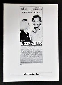 Texasville-Jeff-Bridges-amp-Cybill-Shepherd-Film-Werberatschlag-Y-7022