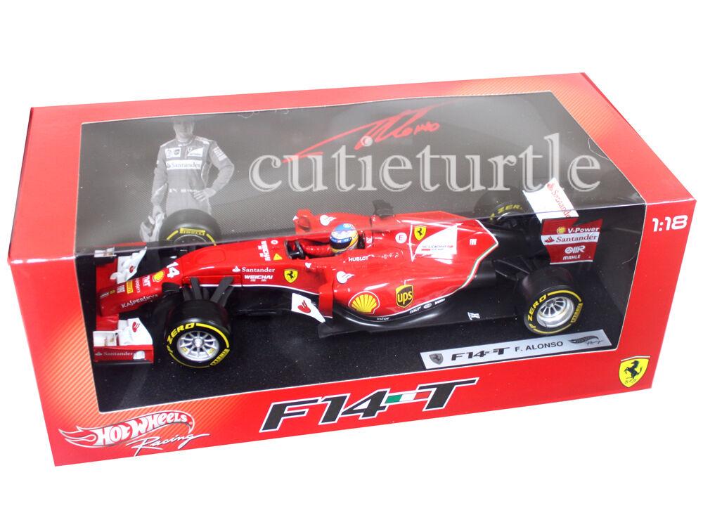 Hot Wheels Wheels Wheels 2014 Ferrari Formula F 1 F14 T 1:18 F2014 Fernando Alonso  14 BLY67 21dc26