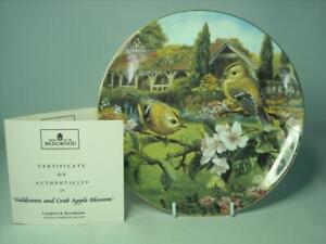 Wedgwood GOLDCRESTS AND CRAB APPLE BLOSSOM Plate Bird Old English Gardens +COA