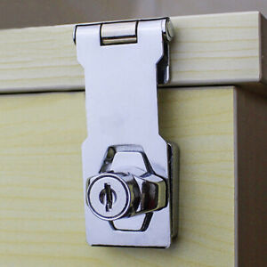 LD-AU-Plating-Self-Locking-Hasp-Staple-2-Keys-Cabinet-Lock-Drawer-Padlock-My
