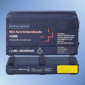 Holthaus-Mini-3-in-1-Verbandtasche-blau-Din-13164-Warndreieck-Warnweste