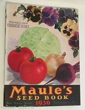 1936 Maule's Seed Book Catalog Plants Vegetables Fruit