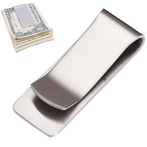 geldklammer silber geldscheinklammer geldspange money clip dollarclip geldclip ebay. Black Bedroom Furniture Sets. Home Design Ideas