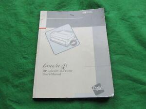 Hewlet Packard-laserjet 5 L Manuel De L'utilisateur 1993-afficher Le Titre D'origine Belle Apparence