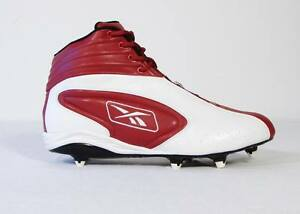 Reebok NFL EQUIPMENT White   Red Football Cleats Shoes Mens 14 NEW ... 0e26bd993
