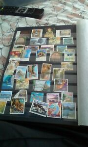 Collection-of-old-stamps-NEW-ZEALAND-over-100