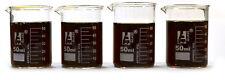 Beaker Shot Glasses - 1.6oz/50mL - Lab Quality Borosilicate Glass - Set of 4