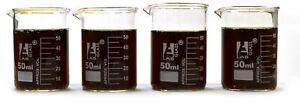 Beaker-Shot-Glasses-1-6oz-50mL-Lab-Quality-Borosilicate-Glass-Set-of-4