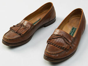Men S Cole Haan Brown Leather Dress Formal Loafers Driving