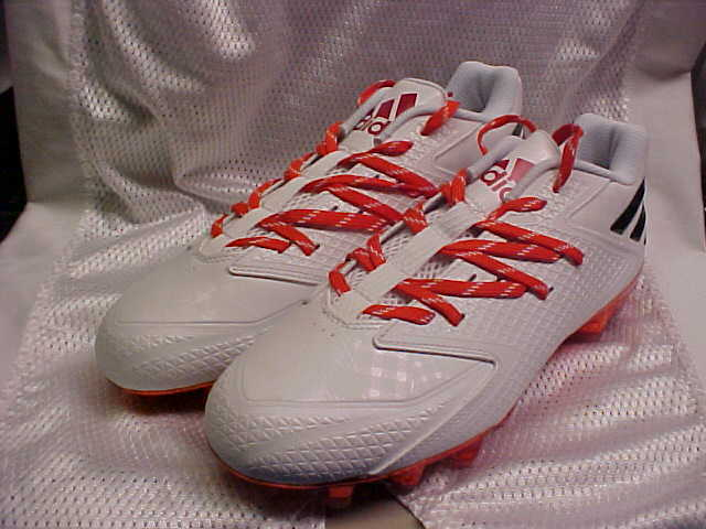 Miami Hurricanes Adidas SM Freak X Carbon Molded Low Football Cleats AQ7013 14