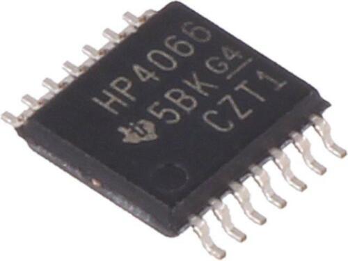 3x CD74HC4066PW IC Digital Switch canaux 4 SMD TSSOP 14 série HC 26VDC