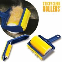 1 Rouleau Anti Peluche Attrape Poils Sticky Clean Rollers + 1 Rouleau Voyage
