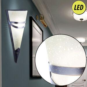 LED-Fackel-Wand-Leuchte-Ess-Zimmer-Beleuchtung-Antik-Stil-Flur-Lampe-rostfarben