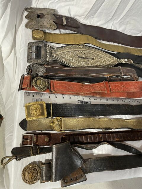 Collection Of Western Antique Belts