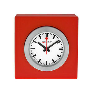 Mondaine chrome plated stainless steel unisex watch - Mondaine travel clock ...