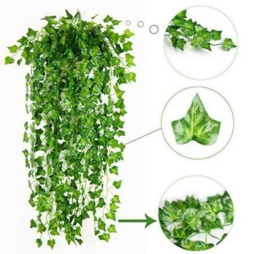 Artificial Trailing Ivy Leaf Garland Plants Vine Fake Foliage Flowers Decor NEW