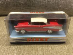 CHEVROLET-BEL-AIR-2-DOOR-RED-WHITE-1-43-MATCHBOX-DINKY-VGC-BOXED