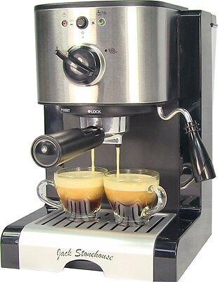 Jack Stonehouse 15 Bar Espresso and Cappuccino Coffee Maker Machine