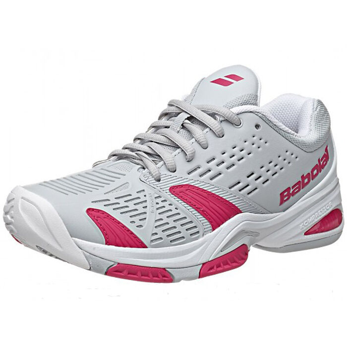 Babolat SFX All Court Wouomo Tennis scarpe grigio rosa New Free Shipping Sale