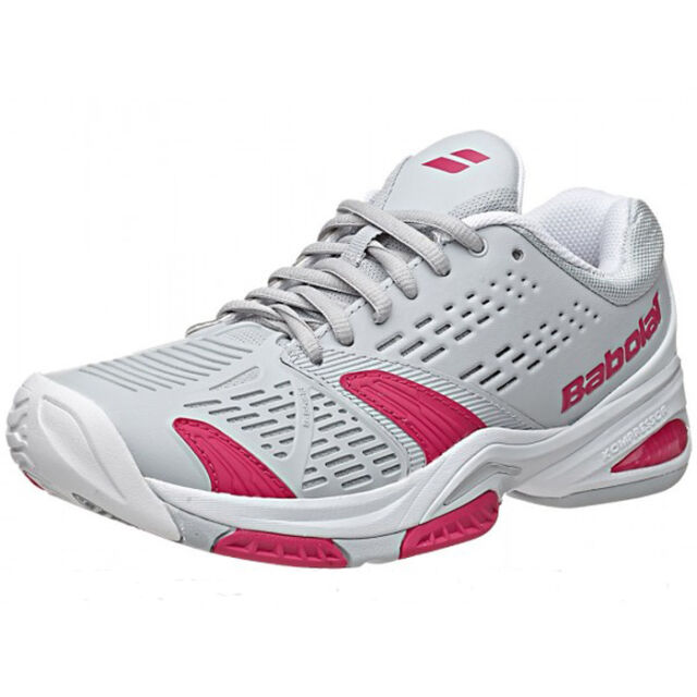 Babolat Tennis Shoes >> Babolat Sfx All Court Women S Tennis Shoes Grey Pink New Free Shipping Sale