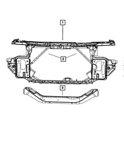 Genuine MOPAR Radiator Cross-Member Brace Left 68381135AA