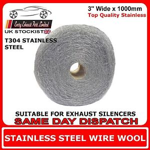1m-x-3-034-Wire-Wool-Wrap-For-Exhaust-Silencers-Stainless-Steel-T304-High-Grade