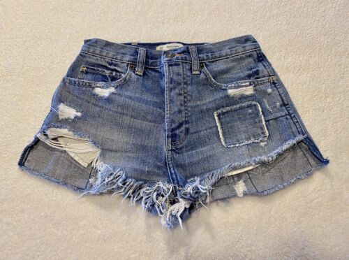 Abercrombie & Fitch Women Patchwork High Rise Jea… - image 1