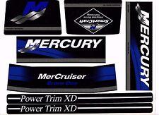 MERCRUISER THE NEW BLUE 2017 BRAVO ONE  W / WHITE RAMS STICKER SET