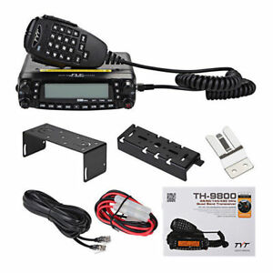 Details about US TYT TH-9800 50W 809CH Quad Band Dual Display Repeater Car  Mobile Radio +Cable