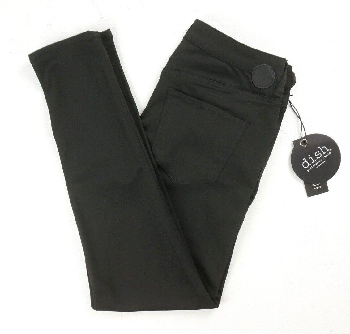 Neuf Plat Forever schwarz No Fade Performance Jeans Pantalon Skinny Größe 28X28