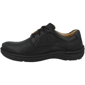 Clarks Nature Three Schuhe Herren Halbschuhe Leder Schnürschuhe black 20339008