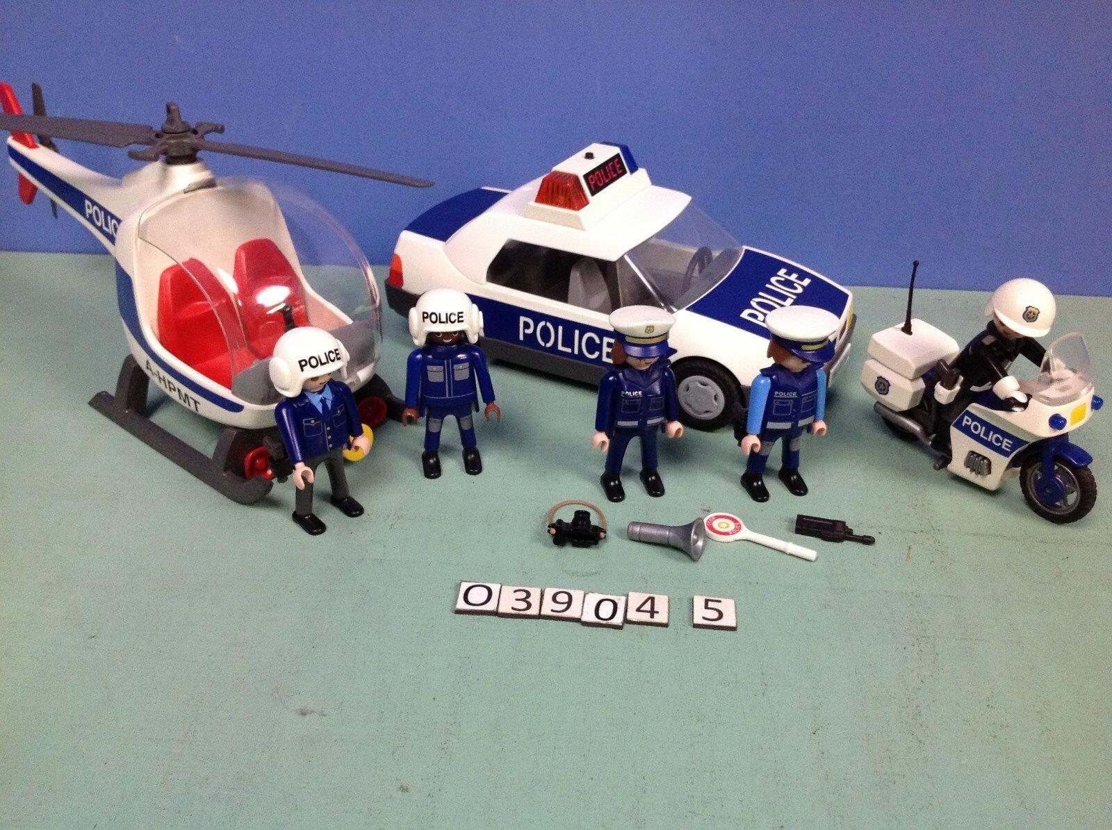 (O3904.5) playmobil lot véhicules de  polizia ref 3904 3908 3986  solo per te